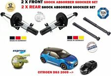 FOR CITROEN DS3 2009--> NEW 2X FRONT + 2X REAR SHOCK ABSORBER SHOCKER SET