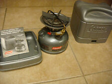 Coleman dual fuel 533-700 Single Burner Stove with case and instructions