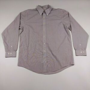 Mens Brooks Brothers 16 - 34/35 Brown Striped Non Iron Dress Shirt