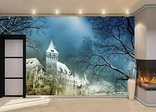 Castle at Night  Wall Mural Photo Wallpaper GIANT WALL DECOR Paper Poster