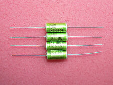 4 x NOS ERO KT1801 0.047uF .047uF 400V 10% Axial Polyester Caps Mustard Replace