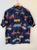KAU KAUWA Mens Short Sleeve Shirt Cotton Car Graphic Size XL / XXL Made In Fiji