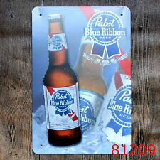 Metal Tin Sign blue ribbon beer Bar Pub Vintage Retro Poster Cafe ART