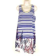 Charlie Jade Womens Dress Sz XS Red White Blue Sleeveless Lined Geometric Print