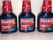 Tylenol PM  ( 3 PACK ) Sleep Aid Liquid Bedtime Berry Acetaminophen Pain Relief