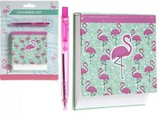 Flamingo Angled Desk memo Pad Block & Pen Set