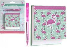 Flamingo Angled Desk memo Pad Block & Pen Set