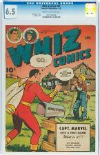 Whiz Comics #61 Fawcett 1945 CGC FN+ 6.5 C-O/W pgs Captain Marvel WWII SHAZAM !!