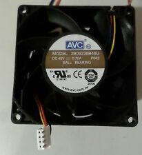 Ventilateur Fan 92x92x38mm 48v 0.7a 4pin connecteur 40cm Câble avc 2b09238b48u p062