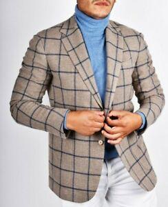 New FW2021-2022 Stile Latino Attolini handmade blazer US 48 EU 58 wool cashmere