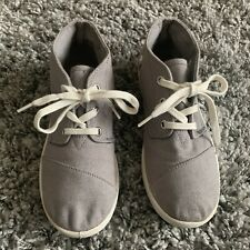 New listing TOMS Gray CANVAS HIGH TOPS SIZE 2Y BOYS SNEAKERS TENNIS SHOES KIDS CHILD