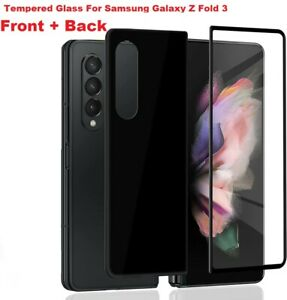 For Samsung Galaxy Z Fold 3 5G front & back Tempered Glass Screen Protector