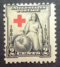 702 MNH 1931 2c Red Cross Clara Barton Nursing nurses military hospitals caring