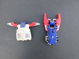 1980's 2 Vintage UFO Toy Robot Space Ship TRANSFORMER TOYS (TOMY-Made In Japan)