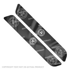 Saddlebag Reflector Decals For 93-13  Harley - WHITE ZOMBIE OUTBREAK - 084