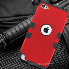 RED High Impact Armor Hard&Soft Rubber Hybrid Case For iPod Touch iTouch 5th/6th