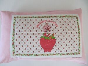 Strawberry Shortcake Pillowcase Vintage 1980s