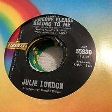 JM17 45RPM JULIE LONDON Won't Someone Please Belong To Me /Girl Talk Liberty