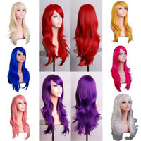 Halloween Wig 70cm Long Curly Cosplay Costume Party Anime Full Hair Wavy Wig