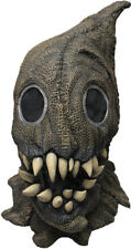 FANGED SACK MONSTER SCARY SCARECROW LATEX HALLOWEEN HORROR HEAD & NECK MASK