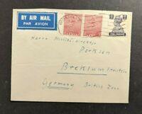 1950 Kodaikanal India Airmail Cover to Breklum Germany
