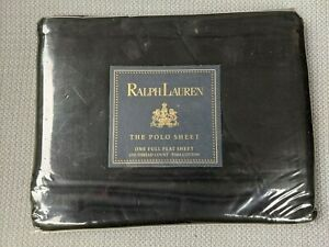 Ralph Lauren The Polo Sheet One Full Flat Sheet Black 250TC NWT