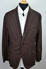 Bonobos Limited Edition Brown Vtg Washed 100% Cotton Sport Coat Jacket Sz L