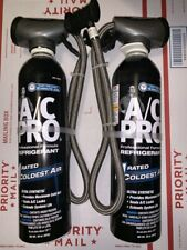 LOT of 2 A/C Pro ULTRA SYNTHETIC Refrigerant R134a 20oz Hose Guage ACP-100 20 oz