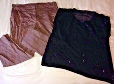 Ladies Clothes Size 16, Eu 44, Clothing Bundle. Crop Trousers & Top. SUMMER SALE