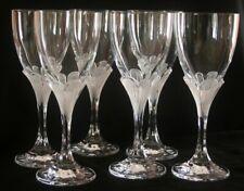 6 verres à eau  cristal d'Arques modèle Granville