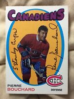 "*SIGNED* 1971-72 OPC #2 PIERRE BOUCHARD (RC) *EXNM* INSCRIBED ""5 STANLEY CUPS"""