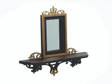 Dollhouse Miniature 1:12 Black Ebony Fretwork Mirror - Artisan  Made Furniture