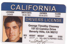 George Clooney star of BATMAN the Dark Knight  Drivers License