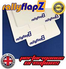 Rally Mud flaps to fit CITROEN C4 rallyflapZ Mudflaps Qty4 White 4mm PVC RF Blue