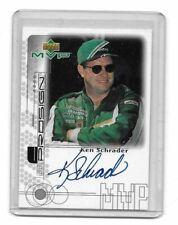 1999 Upper Deck MVP ProSign SILVER Ken Schrader AUTHENTIC AUTOGRAPH 21 YEARS OLD