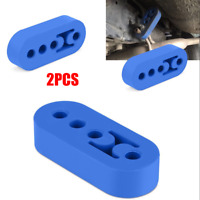 Car Rubber Exhaust Tail Pipe Mount Brackets Hanger Insulator 4 Holes Universal