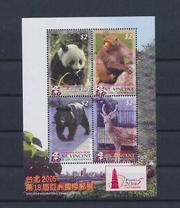 LO41372 St Vincent animals fauna flora wildlife good sheet MNH