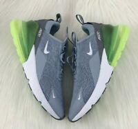 New Nike Air Max 270 Grey Lime Blast Green Women's Size 6-6.5 Sneaker AH6789-404