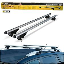 M-Way 135cm 90kg Locking Aluminium Car Roof Rack Rail Bars for Nissan Qashqai +2