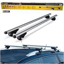 M-Way 135cm Locking Aluminium Roof Rack Rail Bars for Mitsubishi Pajero / Sport