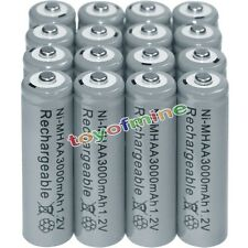16x AA battery batteries Bulk Nickel Hydride Rechargeable NI-MH 3000mAh 1.2V Gra