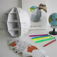 DIY 3D COLOUR MY GLOBE TRAVEL GIFT - FREE POSTAGE