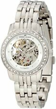 Anne Klein Women's 109137SVSV Automatic Swarovski Crystal Silver-Tone Watch