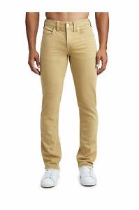 True Religion Men's Slim Fit Jeans Size 31 x 34 NWT Straw Wash Stretch Denim TR