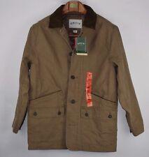Orvis NWT Barn Coat Size Medium Brown W/ Dark Brown Contrasting Corduroy Collar