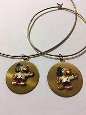 Vintage Mickey Mouse Pendant Wire Choker Bracelet 1970s Walt Disney Gold Tone