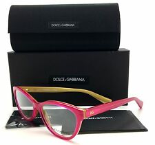 Dolce & Gabbana Fuchsia Eyeglasses DG 3232 2957 53 mm Gold Demo Lenses