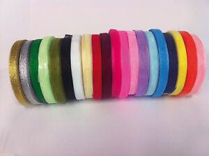 4 metres of Sheer Organza Ribbon - 6 & 10mm width - Many Colours