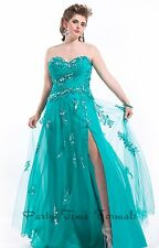 Party Time 6614 Teal Green Beaded Pageant Gala Gown Dress sz 16W