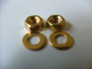 BRASS 2.5 mm M2.5 THREADED  NUTS and WASHERS METRIC ISO CZ121 x5